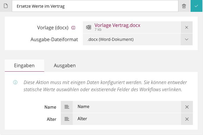 Aktions-Typen — Signavio Workflow Accelerator 3.51 Dokumentation